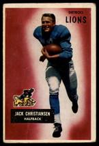 1955 Bowman #28 Jack Christiansen Lions EX Excellent  - $7.50