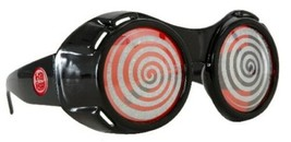 SteamPunk Cosplay Black X-Ray Goggles with Red Sparkle Lenses NEW UNUSED - $15.43