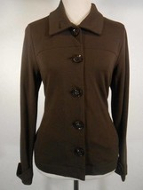 Beautiful Women's PS Petite Small Talbots Brown Long Sleeve Button Jacke... - $22.48