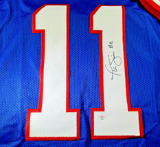 PHIL SIMMS / SUPER BOWL MVP / HAND SIGNED N.Y. GIANTS BLUE CUSTOM JERSEY / COA image 3