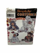 Simplicity 9821 Toddlers Monkey Dog Mouse Bunny Costume Sewing Pattern 1... - $9.89
