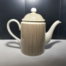Fitz & Floyd Les Bands Brown Coffee Pot with Lid 1976 - $37.39