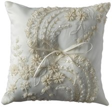 Beverly Clark Venetian Elegance Collection Ring Pillow - Ivory - $43.58