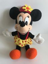 Mattel Arcotoys Minnie Mouse Yellow Red Polka Dot Flower Hat Plush Stuffed Doll image 12
