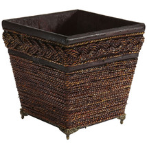 Lacquered Coiled Rope Decorative Planter House Office  - €51,43 EUR