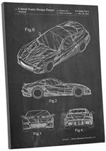 "Pingo World 0301Q3YYX3A ""Ferrari F30 Patent"" Gallery Wrapped Canvas Print, 30"" x - $58.36"