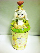 Precious Moments Mothers Gift Set Scented Candle Holder Easter Bunny Rabbit - $11.26
