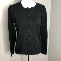 Croft & Barrow Black Cardigan Sweater Sz M NWT Womens Button Front Career - $11.01