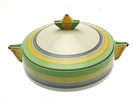 bridgwood Sampson Green and Yellow c1930 8 Inch Tureen and Cover - $82.81