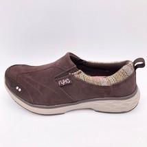 Ryka Womens Slip On Comfort Shoe Sneaker Brown Leather 5.5 EU 35.5 M New - $32.86