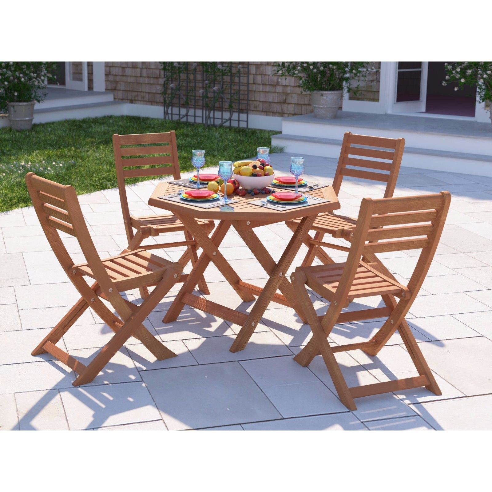 Patio dining set table 4 chairs garden furniture sets for Outdoor dining sets for 4