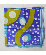 Vintage 60/70s VERA 100% Silk Scarf Hand Rolled Made in USA New Old Stoc... - $39.55