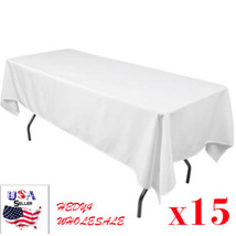 15 packs  60 x 102 Inch RECTANGLE Polyester Tablecloths Hotel Boot WHOLE... - $99.50