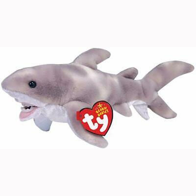 Finn The Great White Shark Retired Ty Beanie Baby Mint Condition with Tags