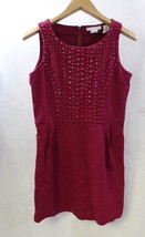 Design History Woman Dress Beaded Red Size M - $16.82