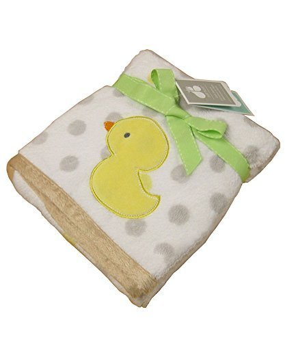 Cute Baby Thin Coral Fleece Blanket/Infant Spring and Summer Quilt Duck
