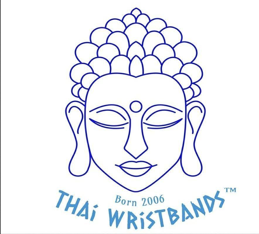 Black Braided Weave Thai Buddhist Mens Cotton Wristband Handcrafted Wristwear
