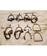 VINTAGE CHILD'S RIDING STIRRUPS & SPURS WITH LEATHER STRAPS - 30'S - 40'S - $180.00