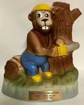 Jim Beam Bucky Beaver Whiskey Decanter 18th Annual Iajbbsc Convention ~ 1988 Htf - $21.87