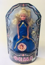 NEW Totsy Gems Clone Doll Sandi Blonde Hair Clip On Kid Earrings VTG Blu... - $49.48