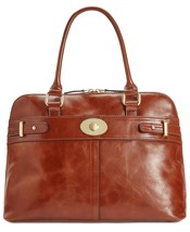 Giani Bernini Glazed Turnlock Dome Satchel Brown - $159.99