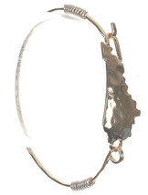 HAMMERED METAL BANGLE  STATE OF KENTUCKY BANGLE BRACELET - $18.88