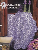 Hexagons & Flowers, Annie's Crochet Quilt and Afghan Pattern Leaflet 309... - $3.95