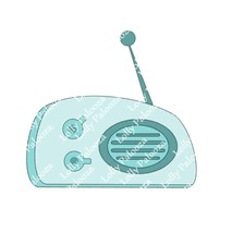 Vintage Radio DIGITAL File.  Instant Download.  PNG & SVG Files.  No Physical Sh