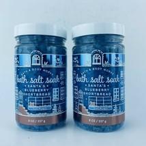 2 Bath & Body Works Santa's Blueberry Shortbread Bath Salt Soak Argan Oi... - $29.69