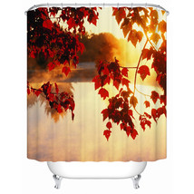 Shower Curtain Beautiful Autumn Maple Leaves Eco-Friendly Waterproof-SCN... - $31.00+