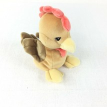 Precious Moments Tender Tails Rooster Brown Plush  - $11.87