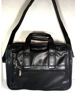 HIT Tech Organizer Laptop Multi Compartment Briefcase Bag Black Faux Lea... - $75.65