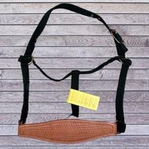 Abetta Bronc Nose Nylon Halter Hunter Green Horse Size Basketweave Tooling image 1