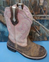 ARIAT Womens 7B SHOWBABY BROWN OILED FATBABY WILD ROSE Western 10001205 ... - $61.70