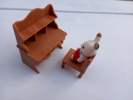 SYLVANIAN CALICO CRITTERS TOWNHOME BROWN HUTCH DESK DRAWERS CHOCOLATE TI... - $7.84