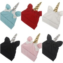 Infant Toddler Patch Baby Hat Cotton Soft Beanies Cute Cartoon Unicorn S... - $5.57
