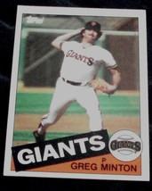 Greg Minton, Giants,  1985  #45 Topps Baseball Card GD COND - $0.99