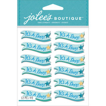 Jolee's Mini Repeats Stickers-It's A Boy Banners - $9.28