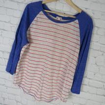 GAP Shirt Top Womens Large L Blue Red White C42 - $18.50