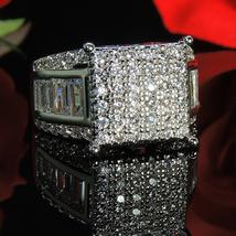 Women's Wedding Anniversary Ring 14k White Gold Plated 925 Silver Round Cut CZ - $109.33