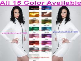 New 15 Color Shiny Metallic Women Dresses Sexy Women Long Zipper Dress Skirt 937 - $36.99