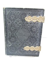 LEATHER BOOK ALBUM VINTAGE TIN TYPE PHOTOS LARGE 23 PAGES FOR REPAIR OF ... - $75.00