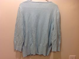 Faded Glory Originals Vintage V-Neck Baby Blue Long Sleeve Sweater image 4