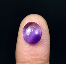 5.00 Cts. 100% Natural Amethyst Oval Cabochon 12*10*5.5 mm Loose Gemstone - $4.16