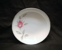 "Rosemarie by Noritake China 5-1/2"" Fruit Dessert Bowl White Pink Roses Japan - $8.90"