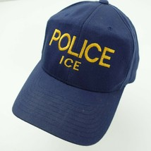 Police Ice Special Agent Ball Cap Hat Fitted S/M Baseball Adult - $13.85