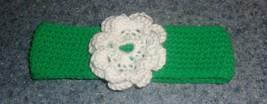 Brand New Crocheted Green Flower Design Dog Collar LARGE For Dog Rescue ... - $10.49
