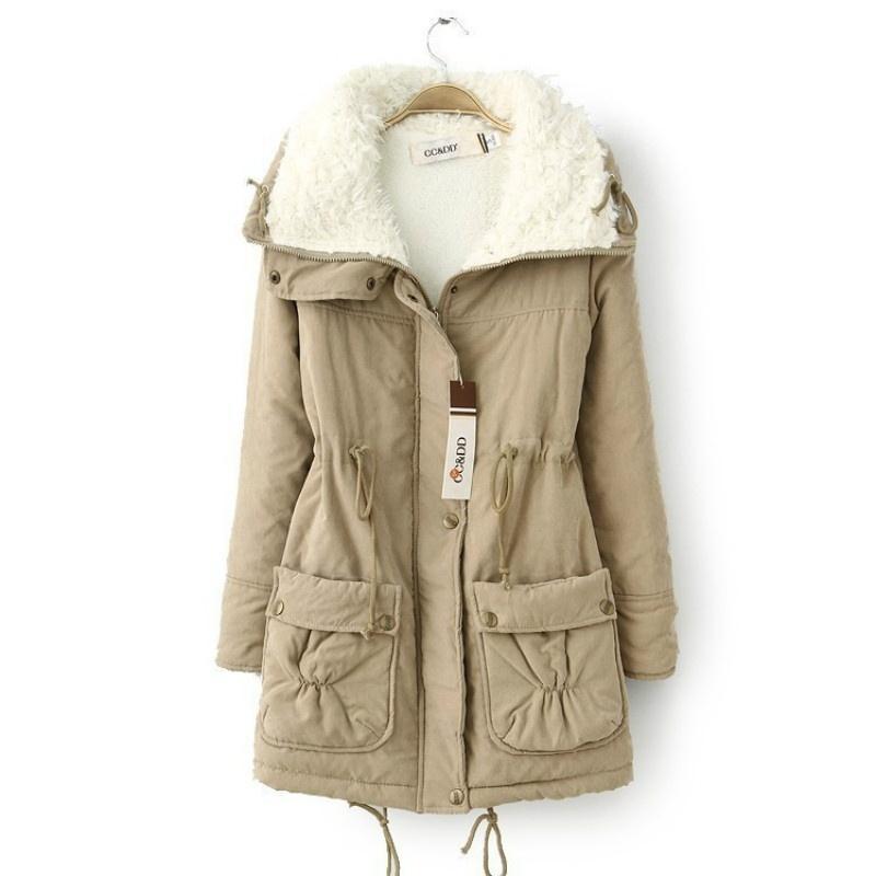New Autumn Winter Jacket Coat Women Parka Woman Clothes Solid Long Jacket Slim P for sale  USA