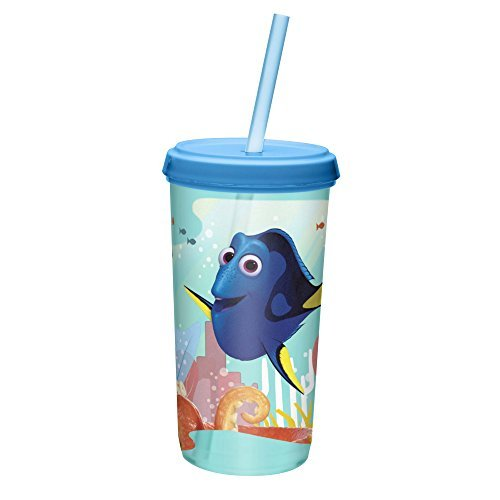 Primary image for Zak Designs Finding Dory 13 oz. Plastic Cup with Lid, Dory