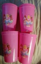 Disney Princess Kids Girls Pink Plastic Cups Set of 4 BPA Free NEW - $8.09